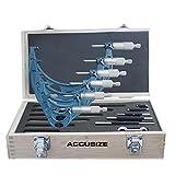 Accusize - 0 - 6'' x 0.0001'' Ultra-Precision Outside Micrometers 6 Pcs/Set, #EG00-0906