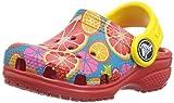 Crocs Kids' Classic Graphic K Clog,Flame,5 M US Toddler