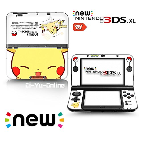 Ci-Yu-Online VINYL SKIN [new 3DS XL] - Pokemon #2 Pikachu Yellow - Limited Edition STICKER DECAL COVER for NEW Nintendo 3DS XL / LL Console System