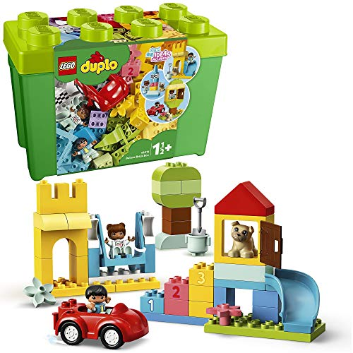 LEGO 10914 DUPLO Classic Luxe Opbergdoos met Kleurrijke Stenen, Educatief Constructiespeelgoed voor Peuters van 1,5 Jaar…