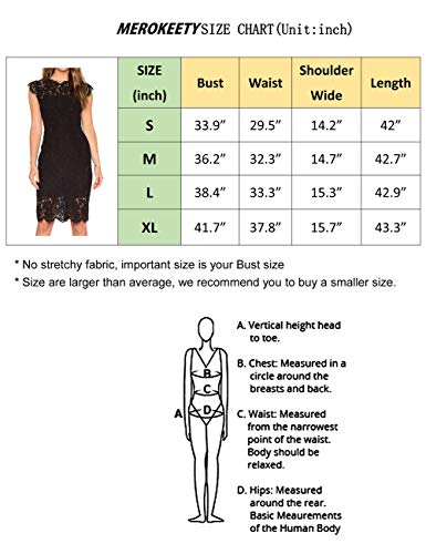 MEROKEETY Women's Sleeveless Lace Floral Elegant Cocktail Dress Crew Neck Knee Length for Party Black