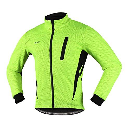 c398a326f Arsuxeo 16H Men s Winter Thermal Fleece Cycling Jacket MTB Bike Coat  (CN XL US  L