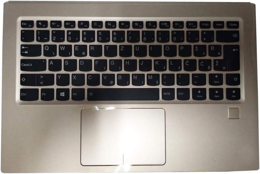 Laptop PalmRest&Keyboard for Lenovo Ideapad Yoga 910-13IKB 80VF Slovenian SL SV 5CB0M35057 Upper Case 80VF Gold New