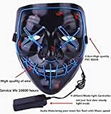 Moonideal Halloween Light Up Mask EL Wire Scary