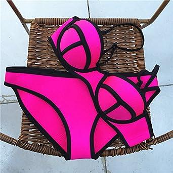 EFE Maillot de Bain Femme 2 Pièces Hyper Suit Tondeuse Bra + Bikini Set Push  up b1047d49ab7