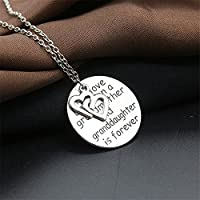 2016 Grandmother Granddaughter Pendants Necklaces Long Women Double Heart Gift