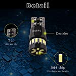 Qasim 4x W5W T10 Canbus LED Bulbs Error Free White 3014 18SMD 194 168 2825 for Car Indicator Map Dome License Plate…