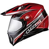 LS2 Helmets MX453 Adventure Motorcycle Helmet with Gears Graphic (Red, X-Large)