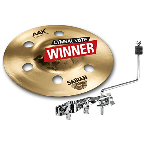 """Used, Sabian 20805XA 8"""" AAX Air Splash w/ Cymbal Mount Arm for sale  Delivered anywhere in USA"""