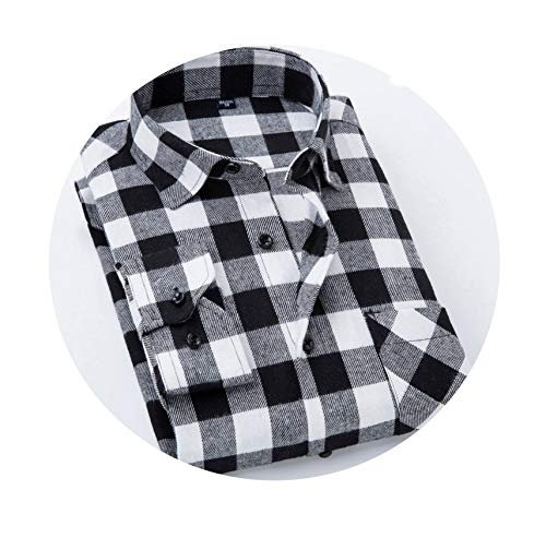 InnovativeVersionSin Men Plaid Shirt 2019 New Flannel Casual Shirt Men Shirts Long Sleeve Cotton Male Check Shirts,XDM16,S 38 (Best Mens Flannel Shirts 2019)