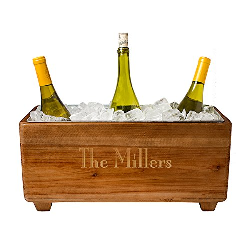 Personalized Wooden Wine Trough (Personalized Wine Bucket)