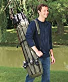 Allnice Thickening Canvas Fishing Rod and Reel Organizer Travel Carry Case Bag