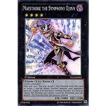YuGiOh : YS12-EN043 1st Ed Maestroke the Symphony Djinn Super Rare Card - ( XYZ Symphony Yu-Gi-Oh! Single Card ) by Deckboosters