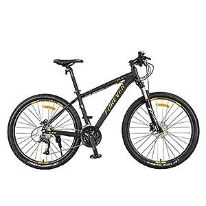 51 kgmZPgDL. SS300 JXH 27.5 Pollici Biciclette 27-velocità Montagna, Doppio Freno A Disco per Mountain Bike Hardtail, Mens Donne di età all Terrain per Mountain Bike, Sedile Regolabile E Manubrio, Blu