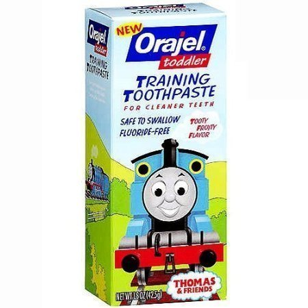 Orajel Toddler Training Toothpaste Tooty Fruity Flavor - 1.5 oz(Pack of 5) by Orajel