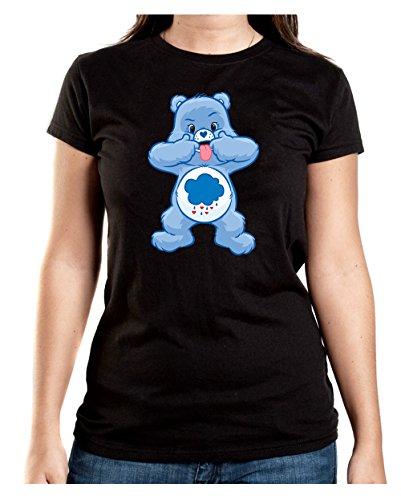 Angry Bear Tongue T-Shirt Girls Black Certified Freak