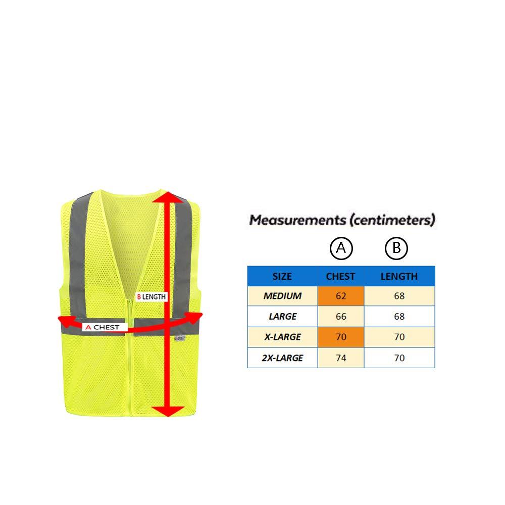Mesh High Visibility Reflective hi vis safety mesh Vest XXL, Yellow