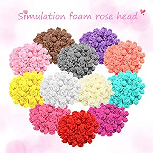 AKIMPE Artificial Fake Flower Faux Greenery DIY Decorations Forever Petals Long Stem Vine Preserved Gift for Wedding Party Home Birthday Garden Her Women 500 Pieces Multicolor 5 2