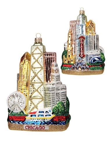 Chicago City Christmas Ornament