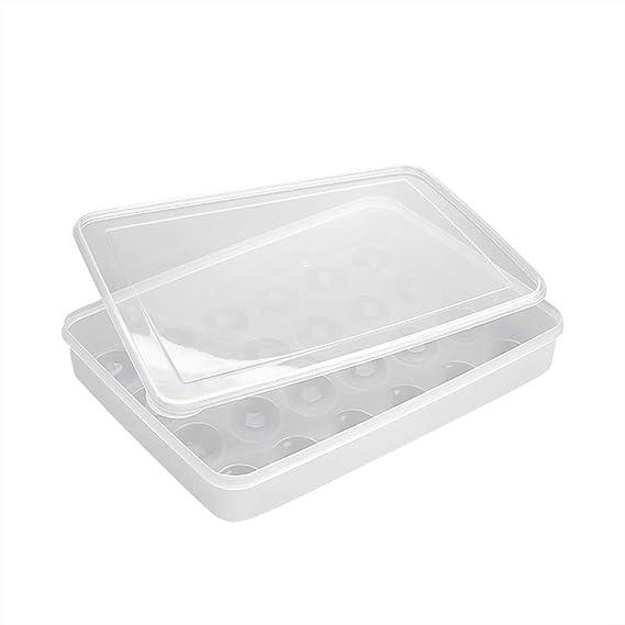 BaojunHT® Caja de huevos con tapa para almacenamiento de ...