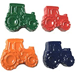 MinifigFans 48 Tractor Crayons - Birthday Party Favors - 12 Sets of 4 Crayons - Made in the USA
