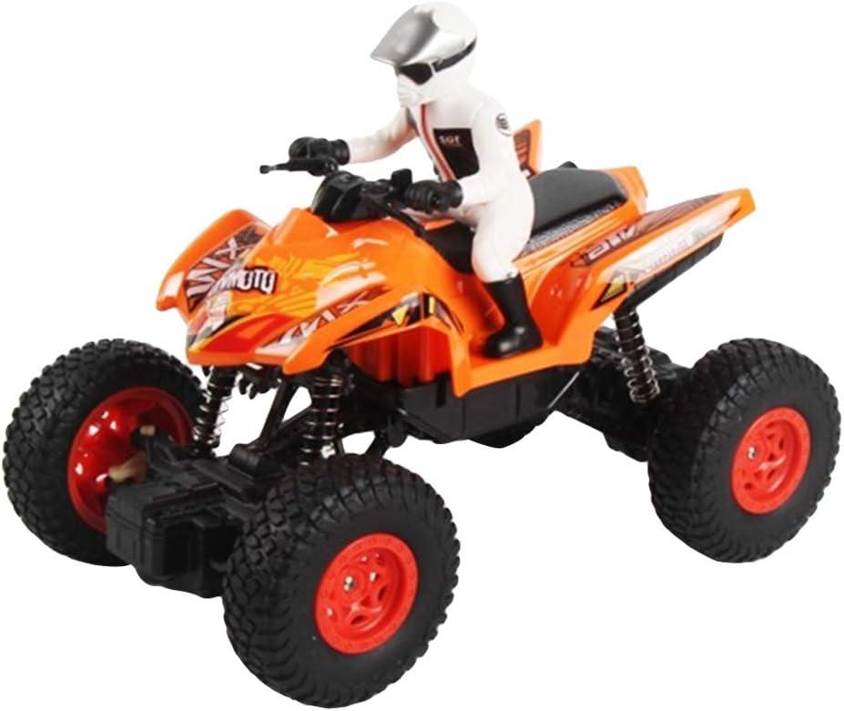 /âg/és De Plus De 8 Ans V/élo Tout-Terrain RC T/él/écommande Quad V/élo en Plastique Moto Jouet Cadeaux Amusants pour Les Enfants Orange