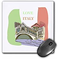 3D Rose Love Italy Matte Finish Mouse Pad - 8 x 8 - mp_58538_1