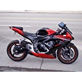 Candy Red w//Black Fairing Injection for 2003-2004 Suzuki GSXR GSX-R 1000 US Stock!!