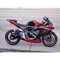 Candy Red w/ Black Grey Injection Fairing for 2008-2010 Suzuki GSXR 600 750