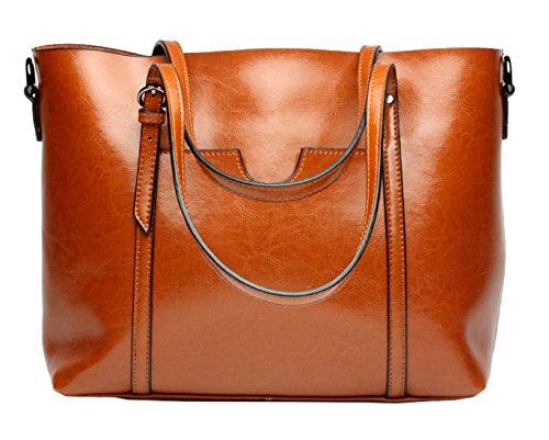 SAIERLONG Neues Damen Braun Echtes Leder Damen Handtaschen Schultertaschen Braun WvVnYv7n
