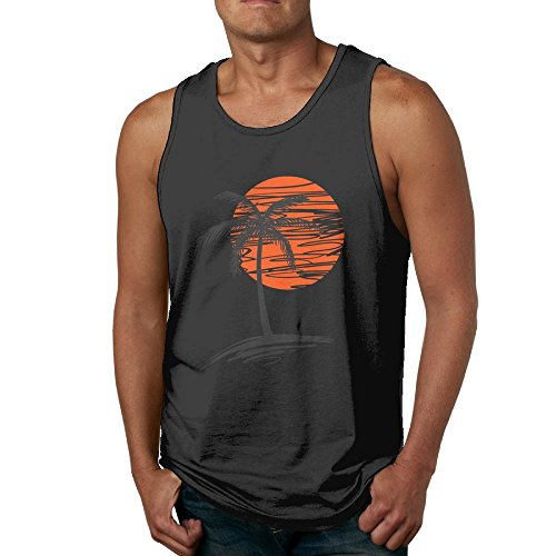Palm Tree Mens Classic Tanks Tops T Shirts ()