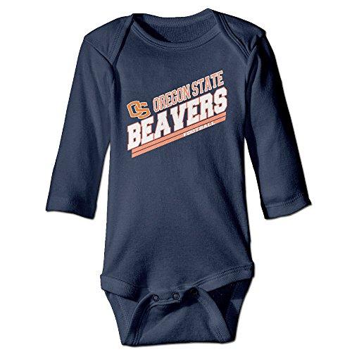 Kid Baby Ncaa Oregon State Beavers Sports Team Logo Long-sleeve Romper (Oregon Embroidered Long Sleeve)