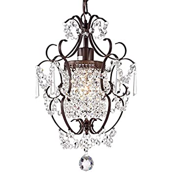 Amorette chrome finish mini chandelier wrought iron ceiling light crystal chandelier lighting bronze chandeliers 1 light iron ceiling light fixture 17011 aloadofball Gallery