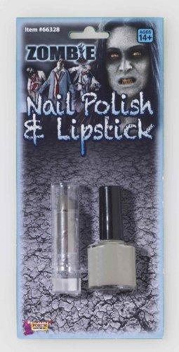 [Zombie Nail Polish & Lipstick Set] (Lipstick Halloween Costumes)