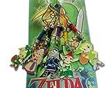 Legend of Zelda keychain/Cellphone metal Charm Set 5 pcs