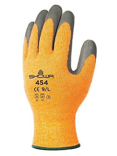 Showa Gloves SHO454-L 454 Glove, Size: L, Orange/Grey