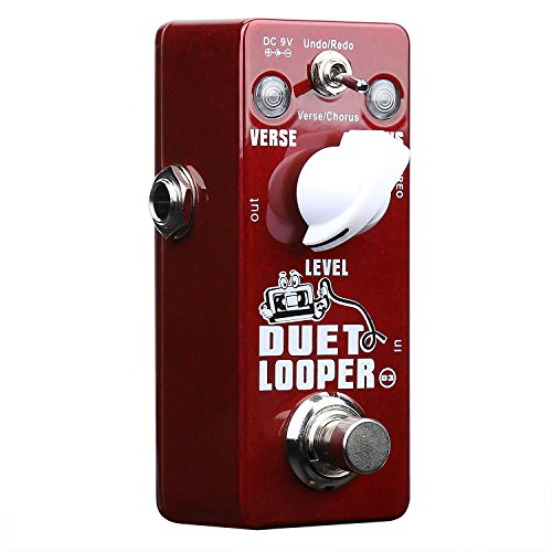 Xvive Duet Looper Stereo Dual Channel Loop Station Effects Pedal for Guitar Bass(Undo/Redo,Verse/Chorus) D3