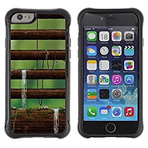 "Hypernova Defender Series TPU protection Cas Case Coque pour Apple Iphone 6 [Naturaleza Musgo Árbol""]"