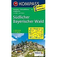 Südlicher Bayerischer Wald: Wanderkarte mit Aktiv Guide, Radwegen und Langlaufloipen. GPS-genau. 1:50000 (KOMPASS-Wanderkarten, Band 197)