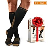 Compression Socks for Women Men 15-20 mmHg BEST Graduated for ATHLETIC Performance - Running, Sports, Fitness & MEDICAL - Pregnancy, Maternity, Pain Relief, Recovery, Nurses & FLIGHT Travel Stockings
