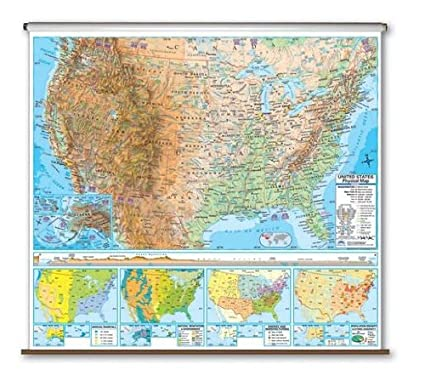 Amazon.com: Advanced Physical Map - United States: Kitchen & Dining