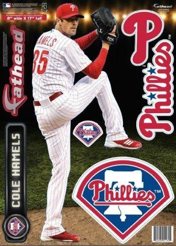Cole Hamels FATHEAD Philadelphia Phillies Logo Set Official MLB Vinyl Wall Graphics 17