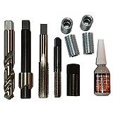 304 Stainless Steel E-Z Lok EK20210 Helical Threaded Insert Kit #4-40 Thread Size Pack of 10 0.112 Installed Length