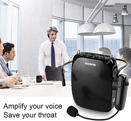 ZOWEETEK Voice Amplifier with UHF Wireless Microphone Headset, 10W 1800mAh Portable Rechargeable PA system Speaker for Multiple Locations such as Classroom, Meetings, Promotions and Outdoors 51 klG5kh5L