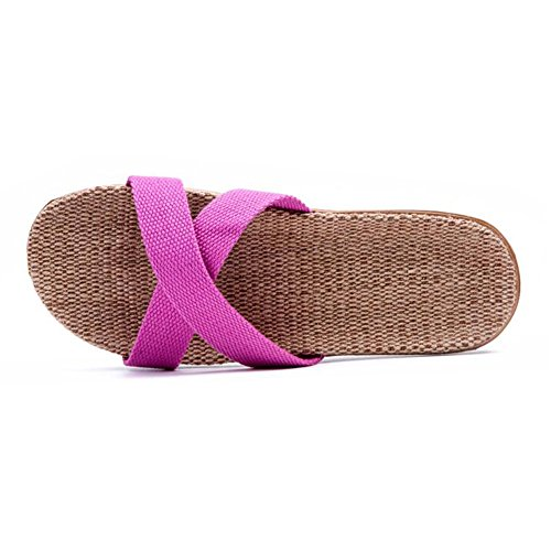Slippers Home Flax Couples Luckyst 11 Slippers Floor wqg8nnfI