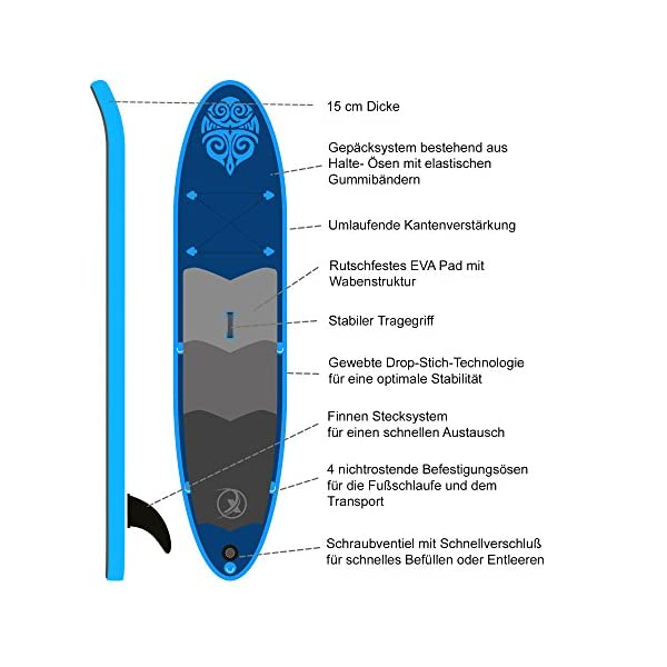 Nemaxx Stand Up Paddle Board, SUP Unisex-Adulto 4 spesavip