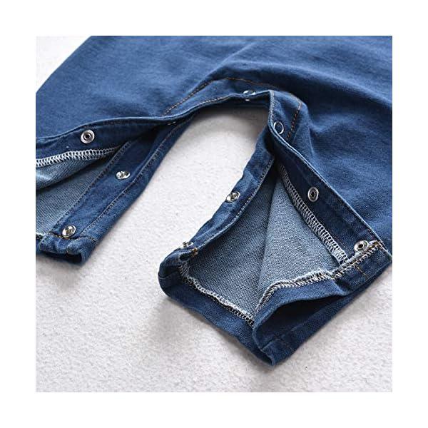 greatmtx - Tutina per neonato, in jeans 6