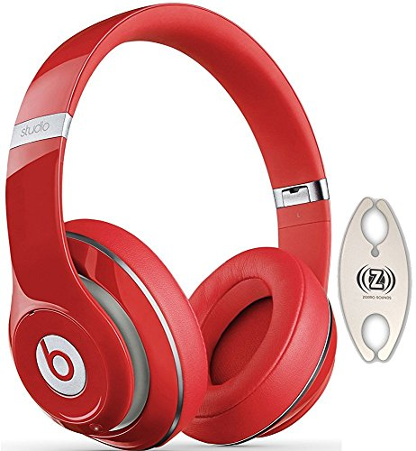 Beats by Dr. Dre Wireless Studio 2.0 Red Over-Ear Headphones Carry Pack with Wire Holder