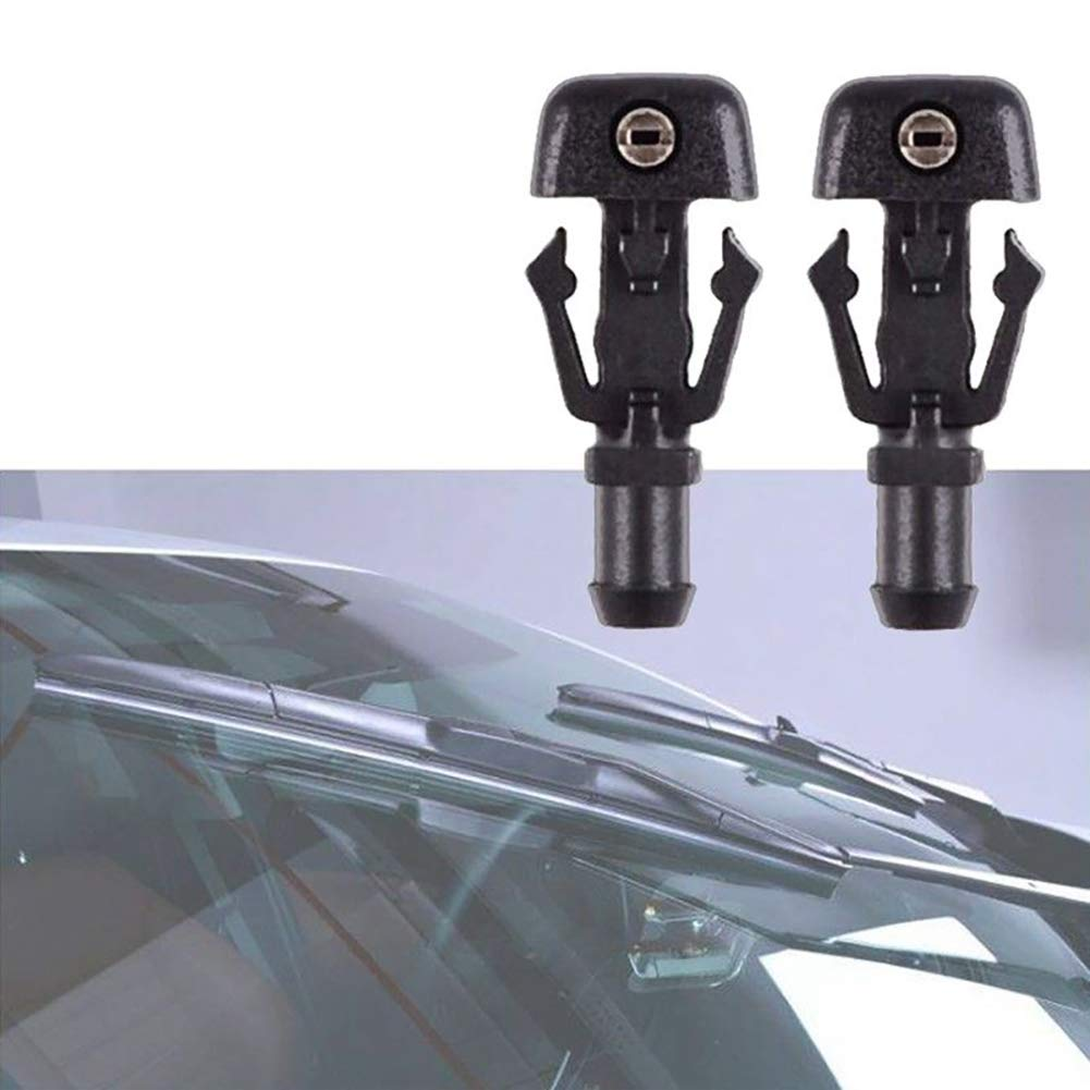 Cheriezing 2Pcs Windshield Washer Nozzles Wiper Spray Kit for 2004-2014 Ford F-150 3W7Z-17603-AA