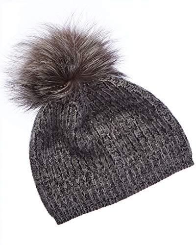 Portolano Womens Cashmere Hat with Pom - Cashmere Portolano